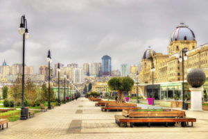 Panorama of Baku from Winter Park - Azerbaijan