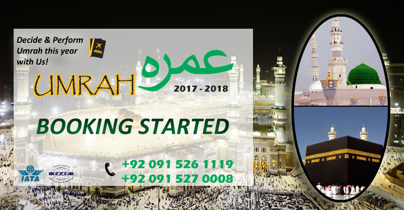 Umrah Banner: Umrah Packages Peshawar, Airlines Ticketing, Holiday